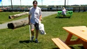 Halifax man has taken to garbage picking while on his daily walks (01:59)