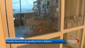 Emily Cave recounts saying goodbye from distance to husband who played in NHL, hospitalized in Toronto ICU (02:11)