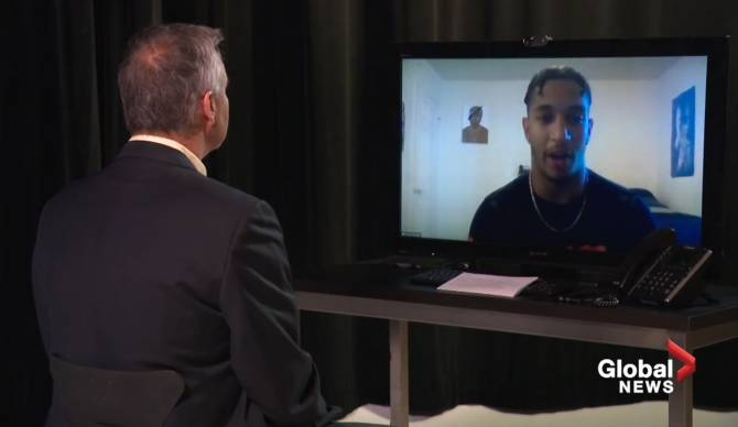 Click to play video: Alberta NCAA football player Chuba Hubbard on COVID-19's impact