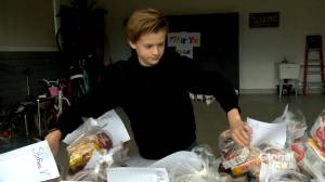 12-year-old boy starts 'amazing' online effort to help Calgary Food Bank (01:42)
