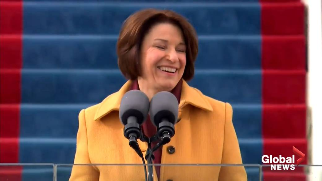 Click to play video 'Biden inauguration: Sen. Klobuchar says American democracy moving forward from Capitol riot'