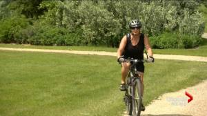 Saskatoon woman biking every residential street before 65th birthday (01:43)