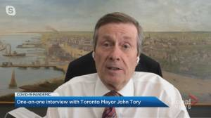 Toronto mayor discusses municipal funding announcement, anti-racism protests