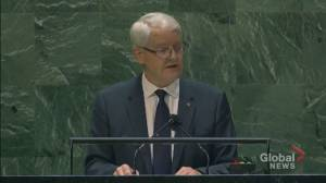 UNGA 2021: Canada committed to welcoming 40,000 Afghan refugees, Garneau says (00:44)