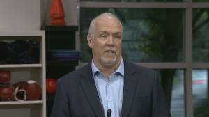 NDP leader John Horgan on latest B.C. overdose death numbers (02:29)