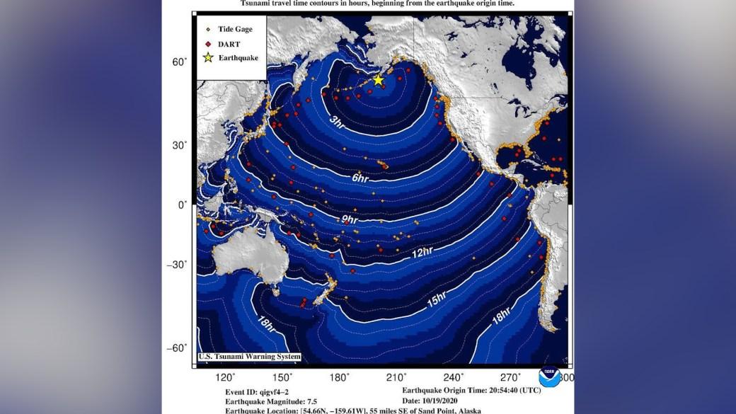 Click to play video 'Tsunami warning sirens sound in Alaska after magnitude 7.5 earthquake off coast'