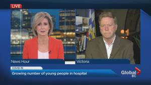 Alarming statistics shows more young people are being hospitalized in B.C. (01:48)