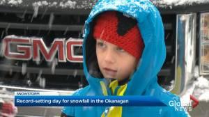 Record-setting snowfall in the Okanagan (02:09)