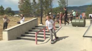 Skateboard memorial in West Kelowna for teen who died (01:45)