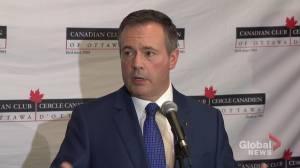 Kenney calls Trudeau's net-zero carbon emissions goal 'aspirational target'