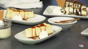 Tiramisu and blood orange ricotta cheesecake with Famoso pizza