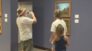 Bob Ross Paintings on display in the Okanagan