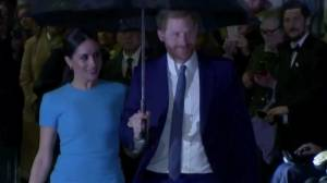 Prince Harry and Meghan Markle bid farewell to royal roles