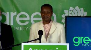Canada election: Green Party leader Annamie Paul's full speech to supporters (11:55)