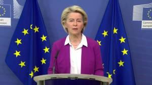EU has exported more than 1 billion COVID-19 vaccines, von der Leyen says (01:40)