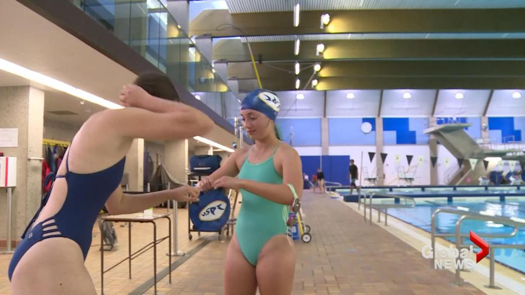 Click to play video: 'Young Lethbridge athletes react to women's Olympic success: 'It's super inspiring''