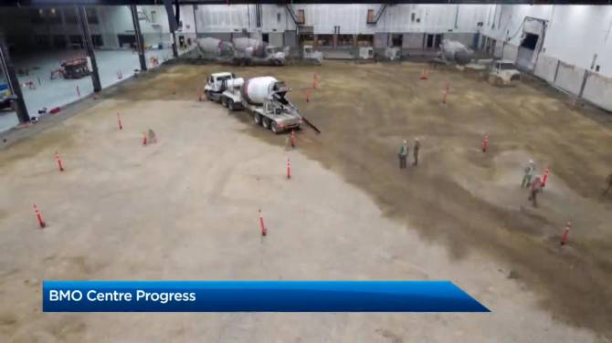 Click to play video: BMO Centre expansion project update from CMLC