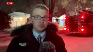 Global News Morning live on scene of fire in St. Vital (01:12)