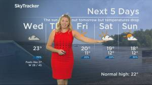 Global News Morning weather forecast: Wednesday September 3, 2019