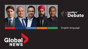 Canada election 2021: English-language federal leaders' debate (02:00:01)
