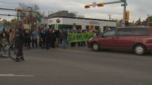 Climate change protest ties up Calgary traffic