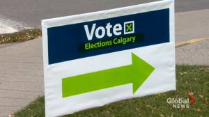 Voter engagement low ahead of Calgary municipal election advance polls (01:45)