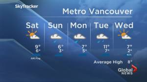 B.C. evening weather forecast: Nov. 20 (01:39)
