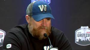 RAW: Blue Bombers Mike O'Shea Media Conference – Nov. 22
