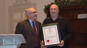 Kingston Historical Society hand-out annual awards