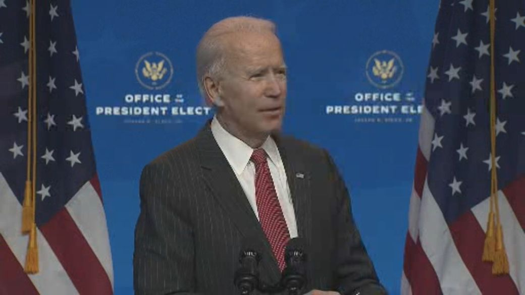 Click to play video 'U.S. election: Biden says Trump's challenge to his election victory is 'incredibly irresponsible''