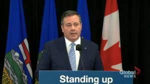 Kenney says his government will 'consult with Albertans' on carbon tax (01:02)