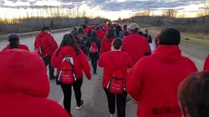 127-kilometre justice march for homicide victim Roderica Ribbon in northern Alberta (02:33)