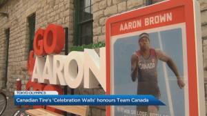 Canadian Tire's 'Celebration Walls' honours Team Canada (04:52)