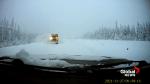 Dashcam captures terrifying near miss between truck and snowplow on B.C. Highway