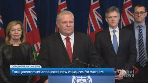 Ford government announces new measures for Ontario workers amid coronavirus outbreak
