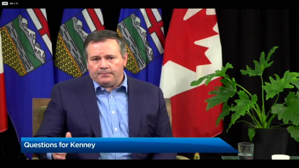 Click to play video 'Kenney speaks publicly for first time in 5 days, expresses support for safe travel during pandemic'