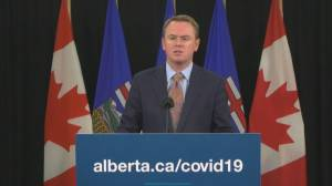 COVID-19: Alberta health minister says field tents are not in current plans (00:57)