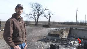 Wildfire victim remembers Sunday blaze that took out family home (02:03)