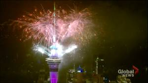 Auckland, New Zealand rings in 2020 with dazzling fireworks display