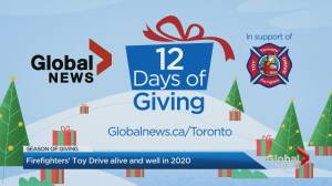 '12 Days of Giving' in support of the Toronto Fire Fighters' Toy Drive (02:10)