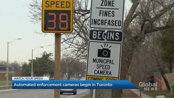 Click to play video: Automated speed enforcement cameras begin ticketing in Toronto