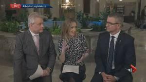 Finance Minister Travis Toews talks about Alberta budget 2020 (04:30)