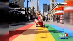 Video shows Calgary drag artist being spit on while filming on Stephen Avenue
