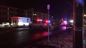 Pedestrian dies after being struck by vehicle on George St. in Peterborough (01:04)
