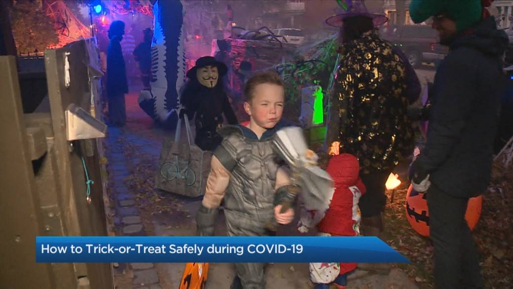 Click to play video 'How to trick-or-treat safely amid COVID-19'