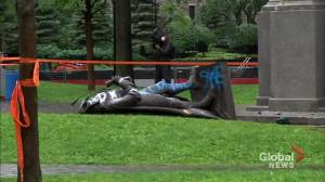 Following the removal of the John A. Macdonald statue in Place du Canada Park, questions emerge on whether it should be replaced (02:06)