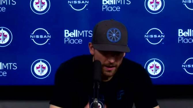 Click to play video: RAW: Winnipeg Jets Blake Wheeler Interview – Apr. 2