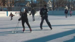 Edmonton police play shinny with kids to bridge gap with inner-city kids