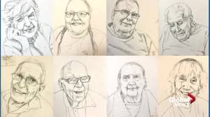 Edmonton continuing care residents captured in series of portraits (01:29)