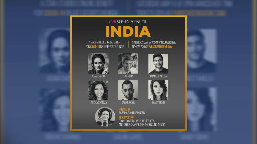 Click to play video: 'Benefit for COVID-19 relief efforts in India'